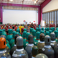 """storage room housing gas cylinders"""