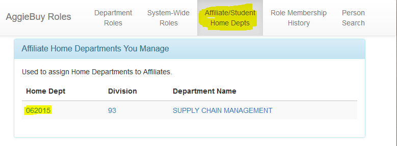 AB Roles Access for Student Non-Employee