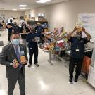 Photo of 2020 UC Davis Health Staff with Food Donations